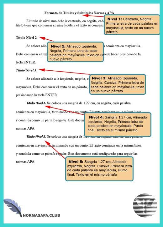 Normas apa sexta edicion titulos y subtitulos ejemplos