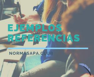 Ejemplos de referencias y bibliografía APA